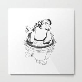 Swimming Poule Metal Print