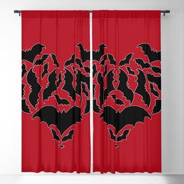 Batty Love Red Blackout Curtain