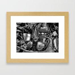 Shiny black chrome Framed Art Print