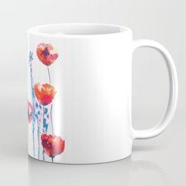 Giraffes and Poppies Coffee Mug