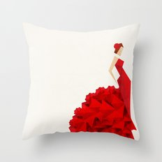 The Dancer (Flamenco) Throw Pillow