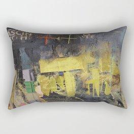 Black and yellow collage Rectangular Pillow