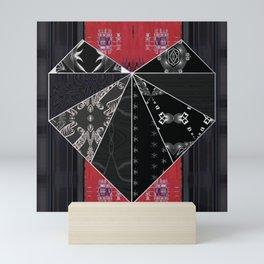 Black & White Scrapbook Quilted Heart (Tile #6) Mini Art Print
