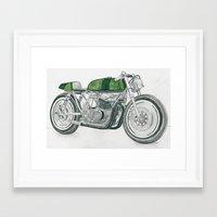 motorbike Framed Art Prints featuring MOTORBIKE by EDENLAND