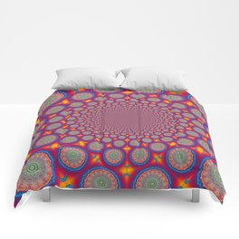 BBQSHOES: Wheels Of Time II Fractal Mandala Comforters