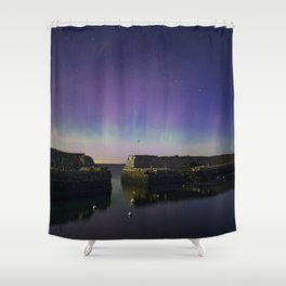 Lanescove Moonlight Aurora Shower Curtain