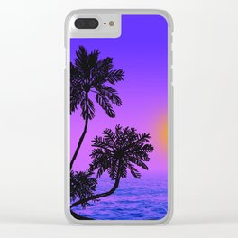 Kirsten's Sunset Clear iPhone Case