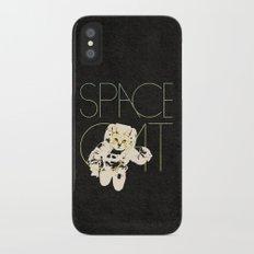 Space Cat iPhone X Slim Case