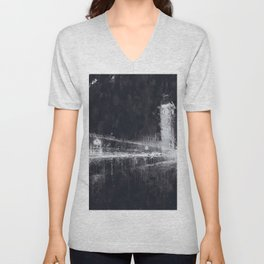 London Cityscape Unisex V-Neck
