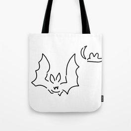 bat flughund at night moon Tote Bag