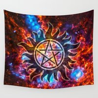 supernatural Wall Tapestries featuring Supernatural Cosmos by Spooky Dooky