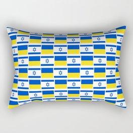 Mix of flag: Israel and Ukraine Rectangular Pillow