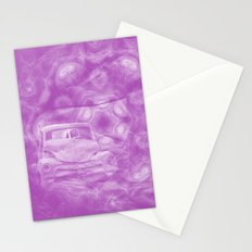 wreck exploding from fracture purple fractal Stationery Cards