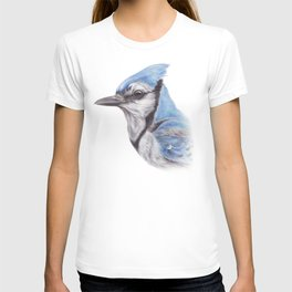 Blue Jay - CYANOCITTA CISTATA | Watercolour | Painting | Animal | Nature | Art T-shirt