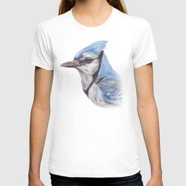 Blue Jay - CYANOCITTA CISTATA | Watercolour | Painting | Animal | Nature | Art T-shirt