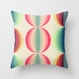 Retro midcentury geometric: Ancient designs for the modern era n°1 Throw Pillow