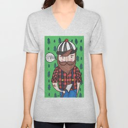 Timber Lumberjack Unisex V-Neck