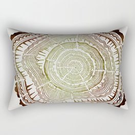 Tree Rings – Watercolor Ombre Rectangular Pillow