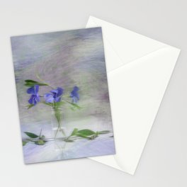 Periwinkle in vial Art Stationery Cards