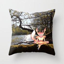 Lakeside Meditation Throw Pillow