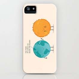 You make my world go round and round! iPhone Case