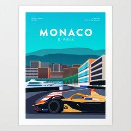 Monaco E-Prix Art Print