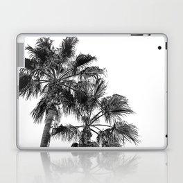 B&W Palm Tree Print | Black and White Summer Sky Beach Surfing Photography Art Laptop & iPad Skin