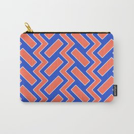 032 Abstract white, blue and orange art for home decoration Carry-All Pouch