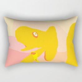 Scared Camel Rectangular Pillow