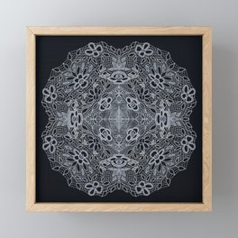 Crocheted Lace Mandala Framed Mini Art Print