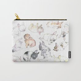 Sleepy French Bulldog Puppies Carry-All Pouch