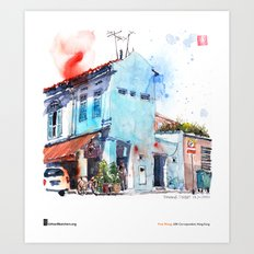 "Paul Wang, ""Pahang Street, Singapore"" Art Print"