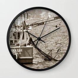Shrimpers Wall Clock