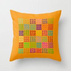 Aztec Wannabe (Orange) Throw Pillow
