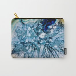 Blue Crystalline Carry-All Pouch