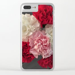 Carnations Clear iPhone Case