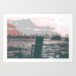 Hamburg docks Art Print