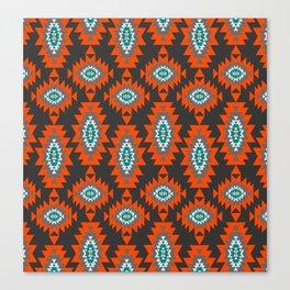 Ethnic shapes on dark background Canvas Print