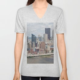 Downtown Pittsburgh Unisex V-Neck