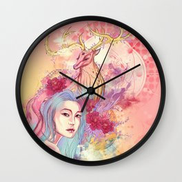 Deer beauty travelling Wall Clock