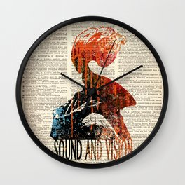 Sound and Vision #2 on dictionary page Wall Clock