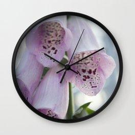 Purple Foxgloves Wall Clock