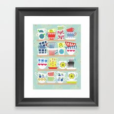 Scadinavian Cups Collection Framed Art Print