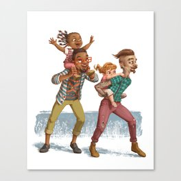 Hipster Dads Canvas Print