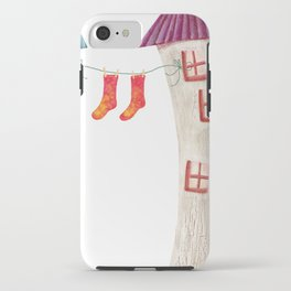 House and socks iPhone Case