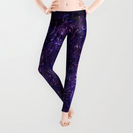 The Wolves Hidden in the Royal Purple Galaxy Leggings