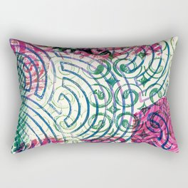 Ghosting green to pink Rectangular Pillow