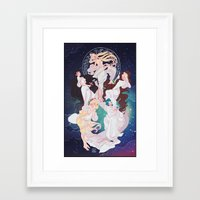 mucha Framed Art Prints featuring Sailor Mucha by Dixie Leota