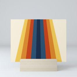 Bright 70's Retro Stripes Mini Art Print