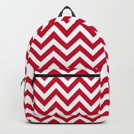 Chevron pattern - red - more colors Backpack